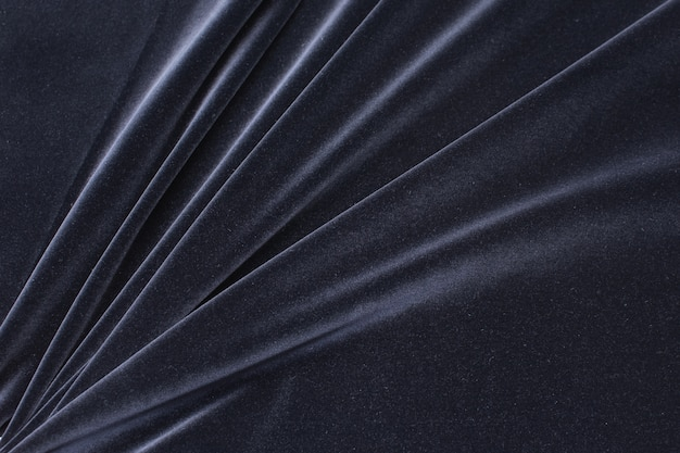 Black color cotton velvet fabric