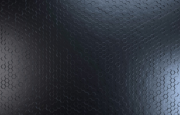 Black color hexagone top view background