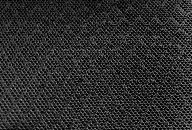 Black color mesh fabric textile texture background