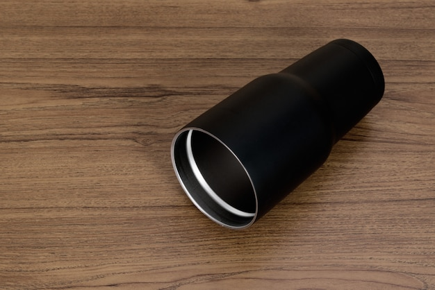 Black colour stainless steel tumbler or cold storage cup