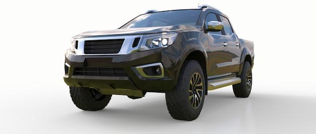 Black commercial vehicle