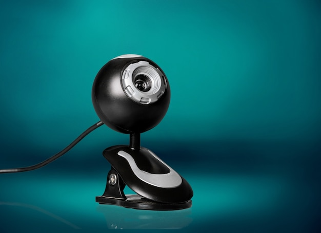 Черная веб-камера компьютера