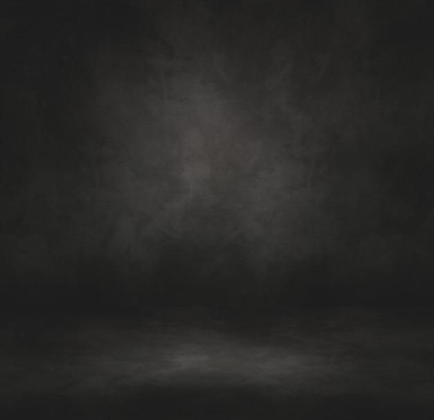 Черный бетонный интерьер фон. пустая шаблонная сцена