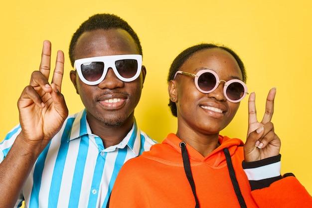 Black couple posing