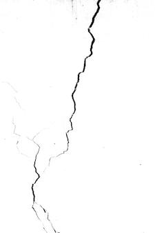 흰색 배경에 고립 된 검은 균열