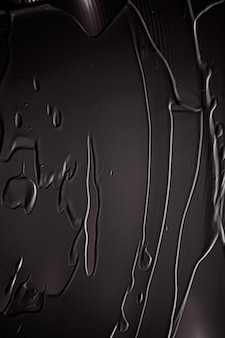 Черный крем текстура фон косметический продукт и макияж фон для роскошного бренда красоты праздник дизайн баннера абстрактное искусство стены или художественные мазки кистью