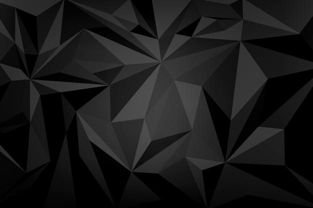Black crystal patterned background