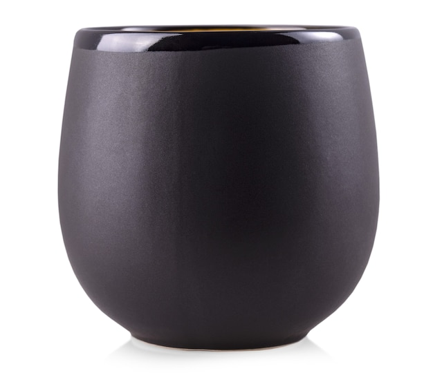 블랙 컵 흰색 절연
