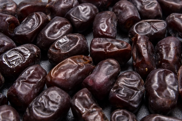 Black dates healthy dried fruits