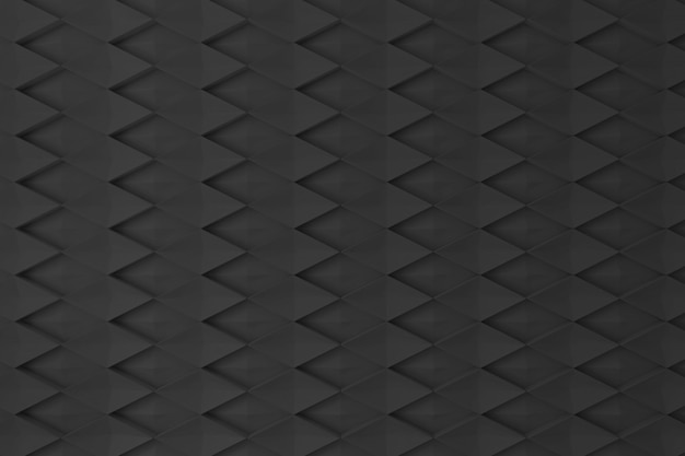 Black diamond shape 3d wall for background, backdrop or wallpaper