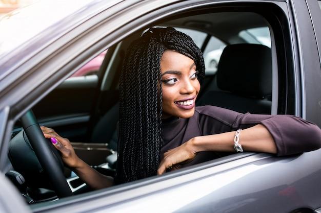 Black driving african car beautiful