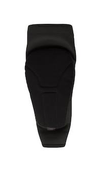 검은 팔꿈치 패드 흰색 배경에 고립입니다. 익스트림 스포츠 슬립온 보호 액세서리