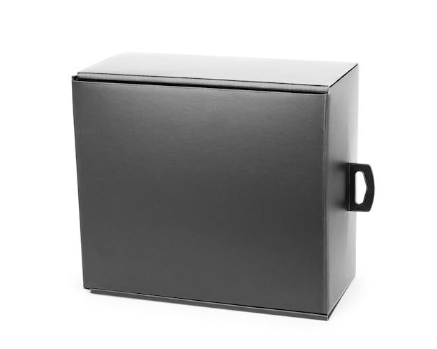 흰색 바탕에 검은색 우아한 상자