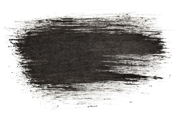 Black expressive ink strokes - abstract background