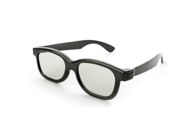 Черные очки для глаз, изолированные на белом фоне