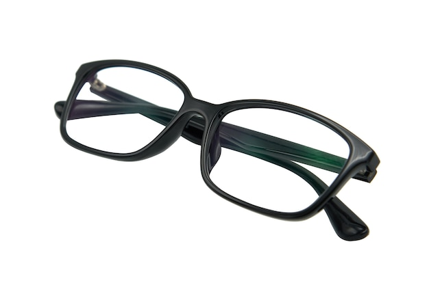 Black eye glasses spectacles with shiny black frame for reading daily life