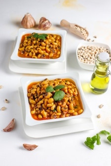 Black eyed beans curry,indian cuisine.