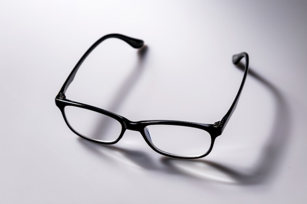 Black eyeglasses spectacles with shiny black frame for reading