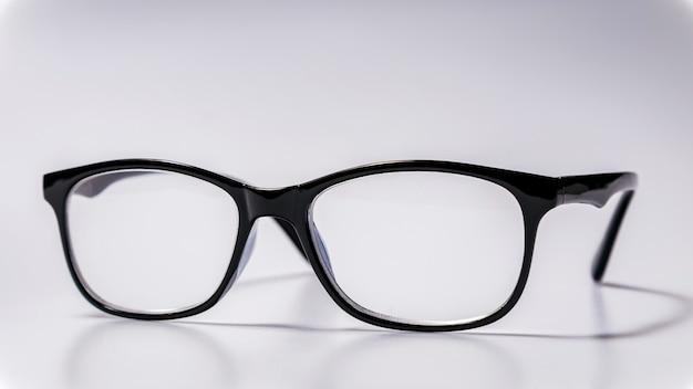 Black eyeglasses spectacles with shiny black frame