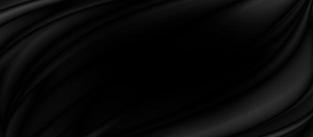 Черная ткань фон 3d иллюстрация
