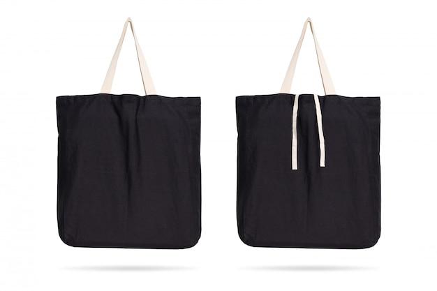 클리핑 패스와 격리 된 배경에 검은 패브릭 가방.