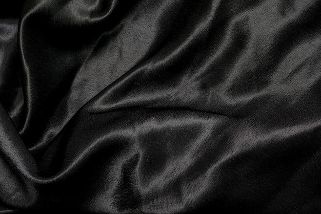 Black fabric cloth background texture
