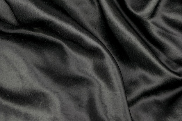 Black fabric cloth background texture