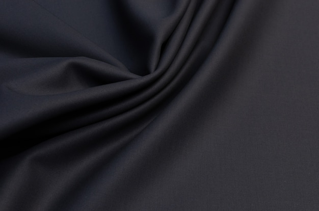 Black fabric for clothing