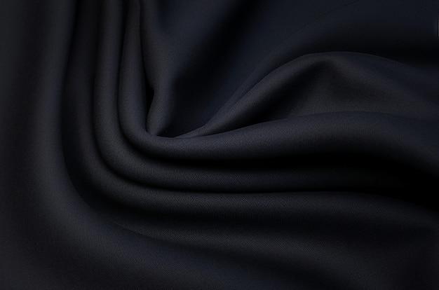 Черная ткань для одежды