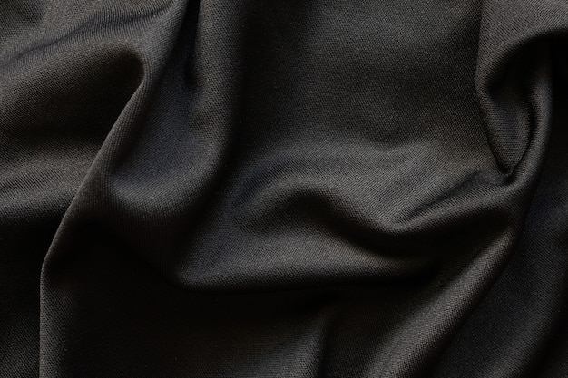 Black fabric luxury cloth texture pattern background