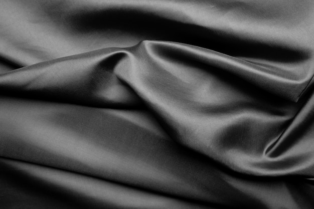 Black fabric texture background, abstract