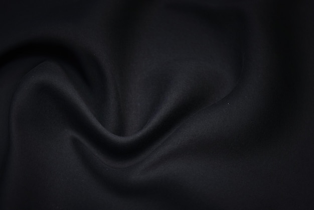 Black fabric texture background. blank luxury waft shirt textile and material.