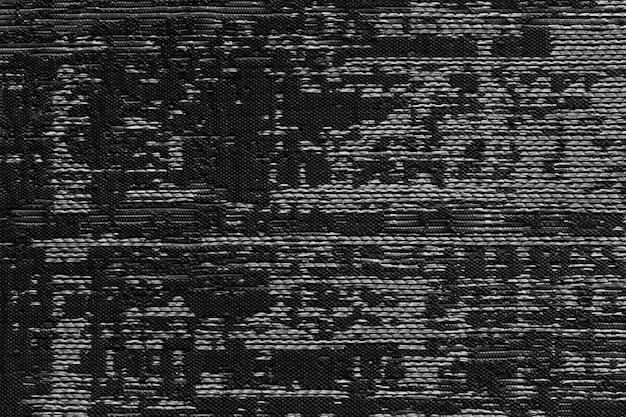 Черная ткань текстуры фона. деталь холста текстильного материала.