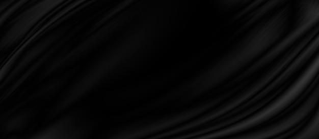 黒の生地のテクスチャ背景イラスト