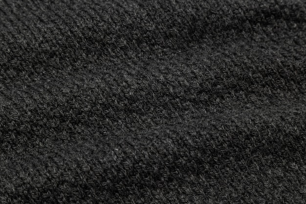 Black fabric texture, cloth pattern background.