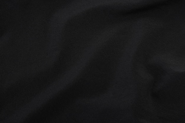 Black fabric texture, cloth pattern.