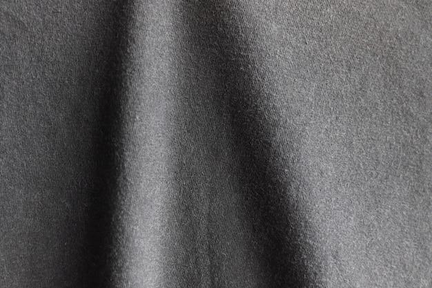 黒い布のテクスチャ表面デザイン