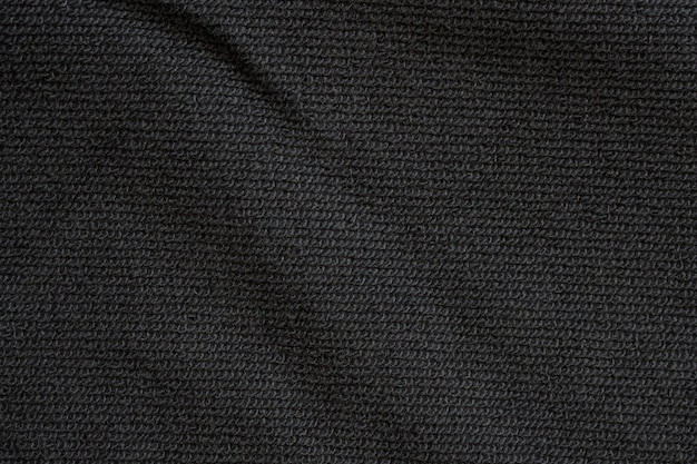 Black fabric texure pattern background