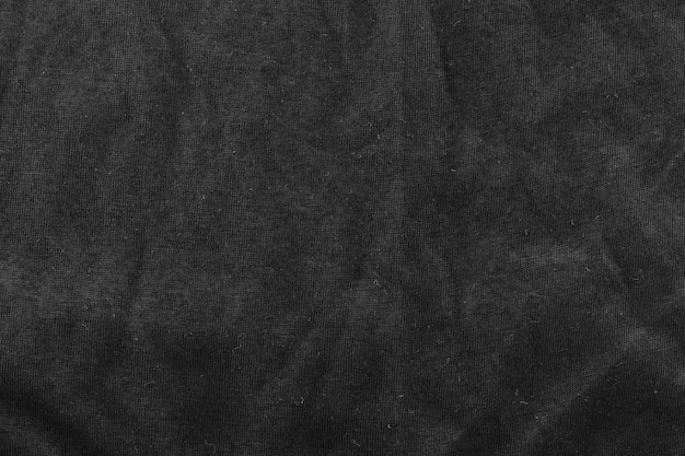 Black fibers of fabric background