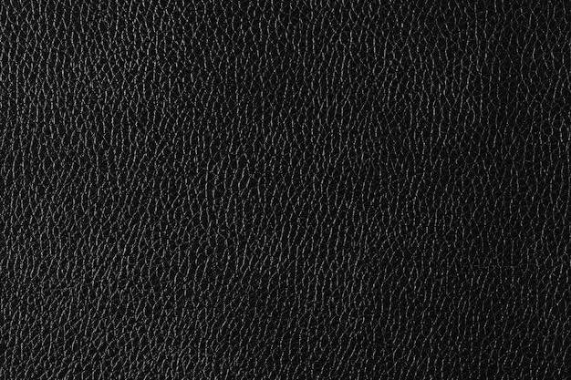 黒の細かい革の織り目加工の背景