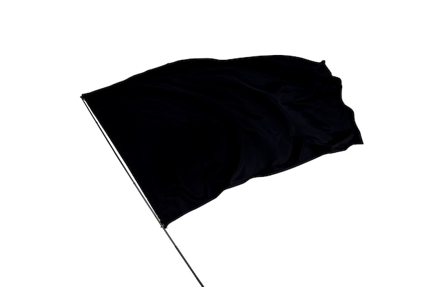 Black flag on a white background