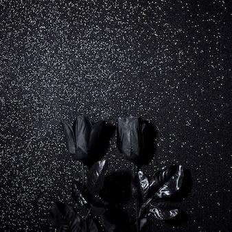 Black flowers for halloween night