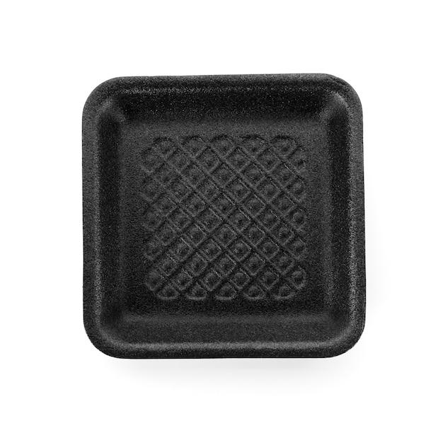 白い背景で隔離の黒い泡ボックス