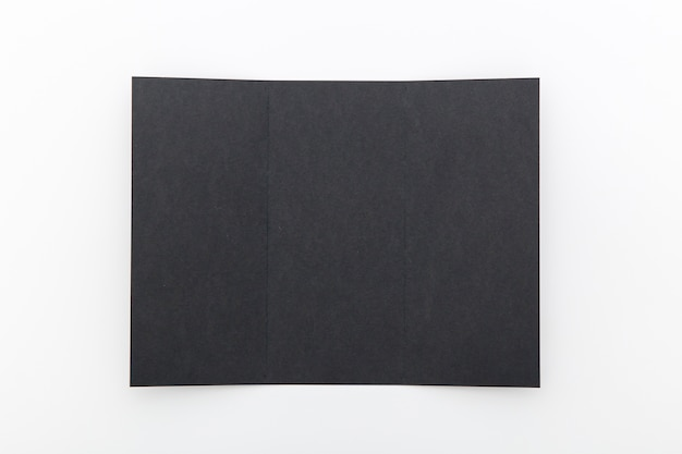 Black folded brochure
