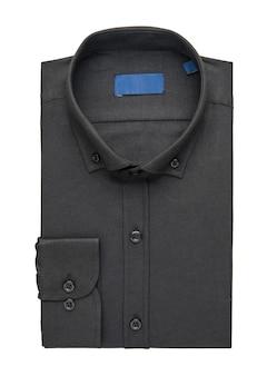 흰색 바탕에 검은색 접힌 셔츠, 위쪽