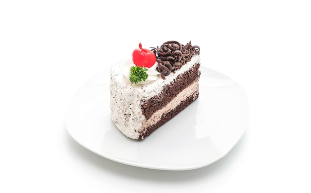 Black forest cake isolated