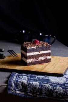 Black forest cake on the table