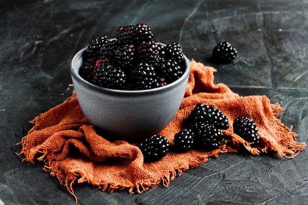 Black forest fruits in bowl