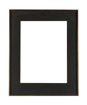 白い背景で隔離の絵画や写真の黒いフレーム