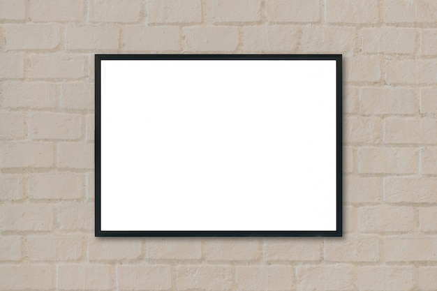 Black frame hanging from a wall